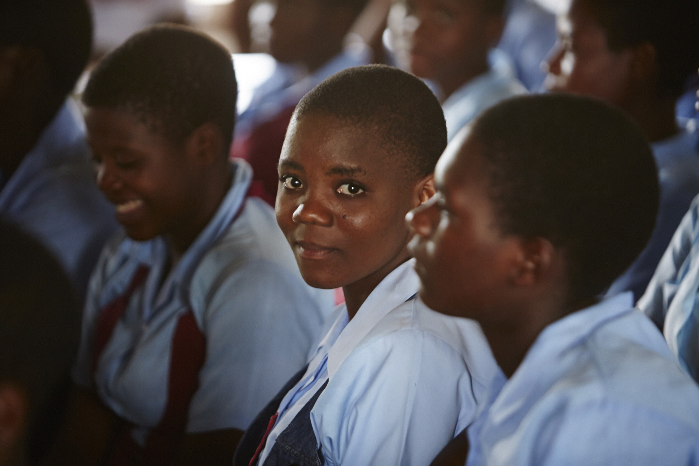 Camfed Malawi school students