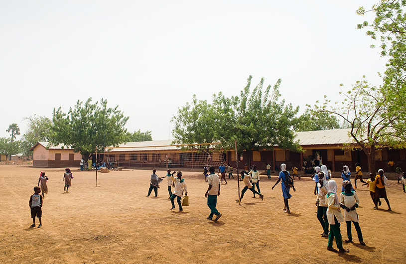 Playground of the school in Karaga District founded by Afishetu