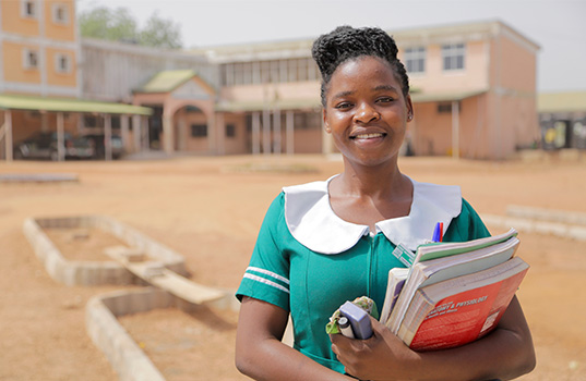 Sukurata is a trainee nurse in Tamale, Ghana