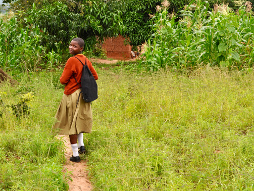 Before becoming a boarder, Vumilia started her 10 km walk to school at 4.30 a.m. every day